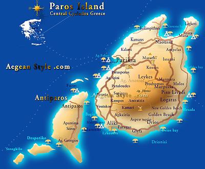 Grecia paros isola carta e meteo altavistaventures Image collections